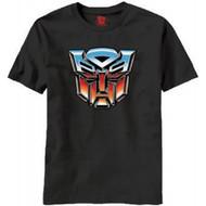 Autobot Logo Transformers Adult Black T-shirt