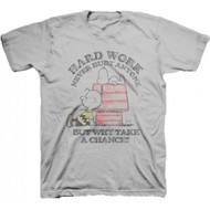 Peanuts Hardly Working Adult T-shirt