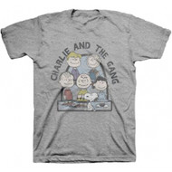 Peanuts Charlie Brown And The Gang Adult T-shirt