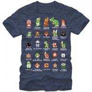 Nintendo Pixel Cast Adult T-Shirt