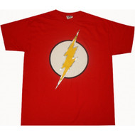 Flash Logo T-shirt Silver Foil Dc Comics