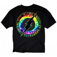 DC Comics Flash Central City Scarlet Speedster Tie-Dye Logo Adult T-Shirt