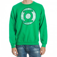 DC Comics The Green Lantern Logo Adult Crew Sweatshirt