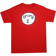 Drunk 1 Funny Red T-Shirt