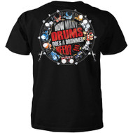 How Many Drums Does a Drummer Need? Just One More T-shirt
