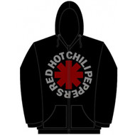 Red Hot Chili Peppers Red Asterisk Zip Up Adult Hoodie