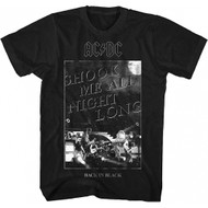 ACDC Shook Me All Night Long Adult T-shirt