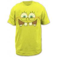 Sponge Bob Excited Face Adult T-shirt