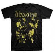 The Doors Live Neon Yellow Adult T-Shirt