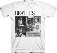 The Beatles 4 Blocks Hello Goodbye Adult T-Shirt
