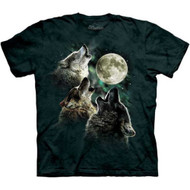 Three Wolf Moon Tie Dye Adult T-shirt