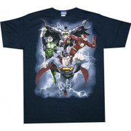 Justice League The Coming Strom Adult T-Shirt