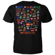 Famous Motorcycles Logos T-shirt