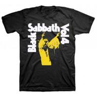 Black Sabbath Vol 4 Distressed Print Adult T-shirt
