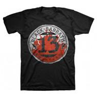 Black Sabbath Flame Circle Thirteen Adult T-shirt