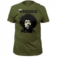 Jimi Hendrix Close Up Adult T-Shirt