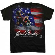 Jimi Hendrix American Music Adult T-Shirt