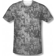 Elvis Presley The TCB Crowd Vintage Feel Sublimation Print T-shirt
