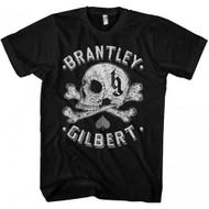 Brantley Gilbert Skull Adult T-Shirt