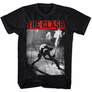 The Clash Smashing Guitar Adult T-shirt