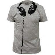 Headphones big print subway fitted Costume T-shirt