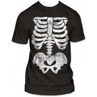 X-ray Skeleton Bones Subway Adult T-shirt
