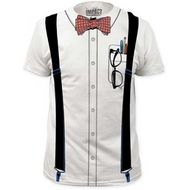 Nerd Suspenders Bowtie Adult T-shirt