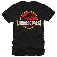 Jurassic Park TRex Logo Adult T-Shirt