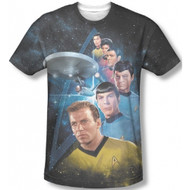 Star Trek Among The Stars Vintage Feel Sublimation Print T-shirt