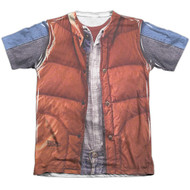 Back To The Future McFly Vest Vintage Feel Sublimation Print T-shirt