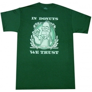 The Simpsons In Donuts We Trust Adult T-shirt