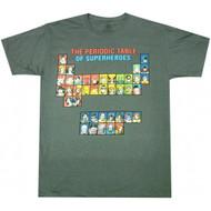 DC Comics Periodic Table Of Superheroes T-shirt