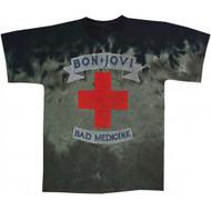 Bon Jovi Bad Medicine Tie Dye Adult T-shirt
