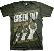 Green Day Handout Vintage Adult T-Shirt