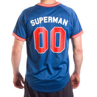Superman 00 Men's Navy Mesh Poly Jersey