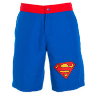 Superman Logo Men's Royal Boardshorts