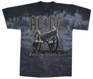 AC/DC Cannon For Those About To Rock Tie-Dye Adult T-Shirt