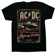 AC/DC Speed Shop Adult T-Shirt