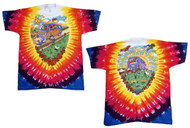 Grateful Dead Summer Tour Bus Adult Tie Dye T-Shirt