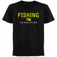 Fishing My Way Of Life Adult T-shirt