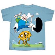 Adventure Time Finn Kick Jump Youth T-shirt