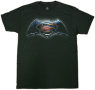 Batman Vs Superman Main Color Logo Adult T-Shirt