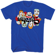 Maroon 5 Cartoon Logo Adult T-Shirt