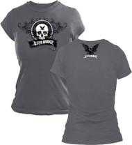 Alter Bridge Skull From Tour Girls Juniors Tissue T-Shirt