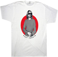 Nirvana Striped T Red Circle Adult T-Shirt
