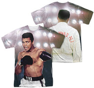 Muhammad Ali Hit The Ligths All Over Sublimation Print Adult T-Shirt