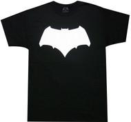 Batman VS Superman - Batman White Logo Adult T-Shirt