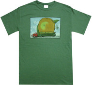 Allman Brothers Band - Eat A Peach Distressed Adult Green T-Shirt