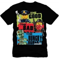 Lego Mini Figures Good Bad Hungry Youth T-shirt
