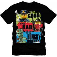 Lego Mini Figures Good Bad Hungry Youth T-shirt